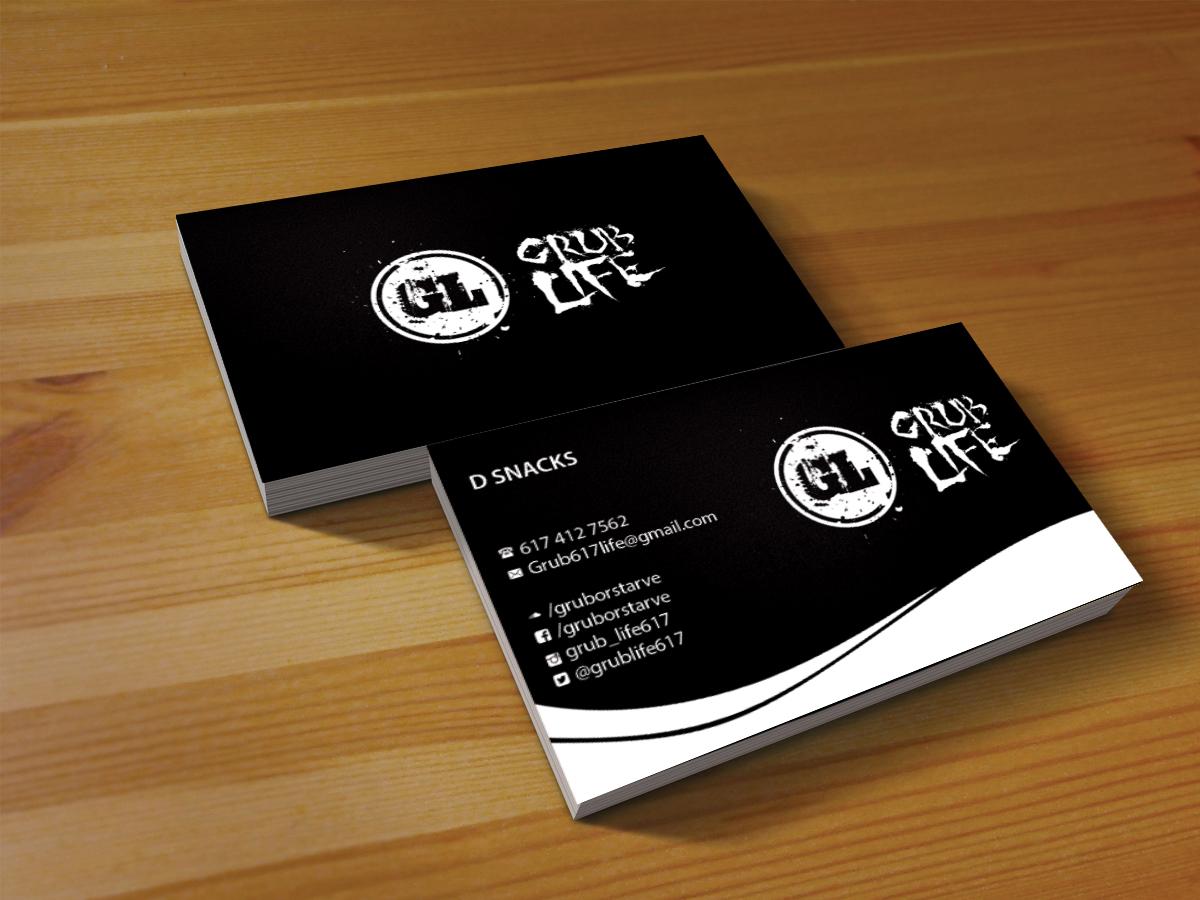 Elegant playful business card design for grub life by creations box business card design by creations box 2015 for grub life music group manager is looking colourmoves