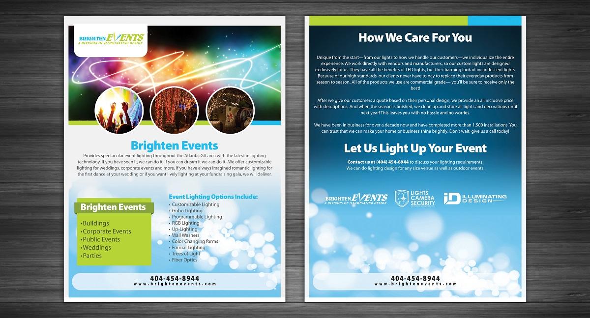 Upmarket elegant it company brochure design for illuminating
