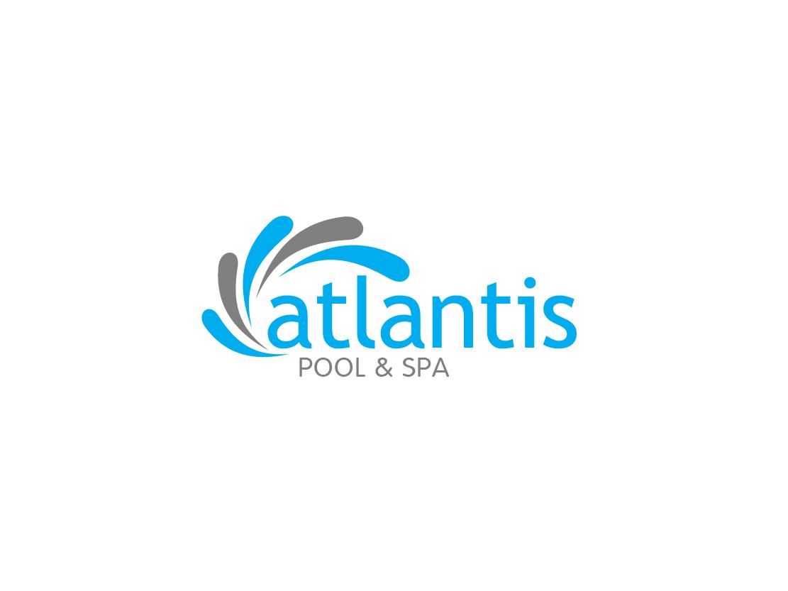 Serious professional it company logo design for atlantis for Pool design logo
