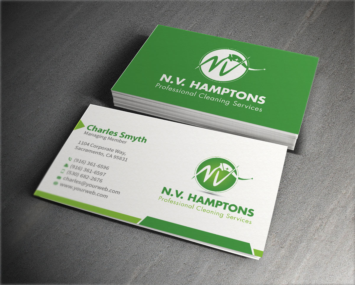 Business card design for victoria by mediaproductionart design business card design by mediaproductionart for professional residencecommercial and post construction cleaning services business magicingreecefo Images
