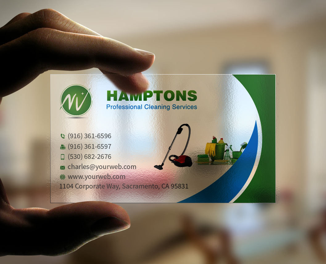 Business business card design for a company by for Business cards for cleaning services