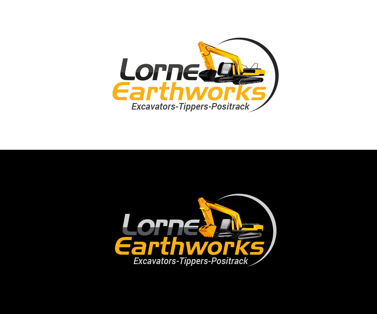 It company logo design for lorne earthworks excavators for Designing company