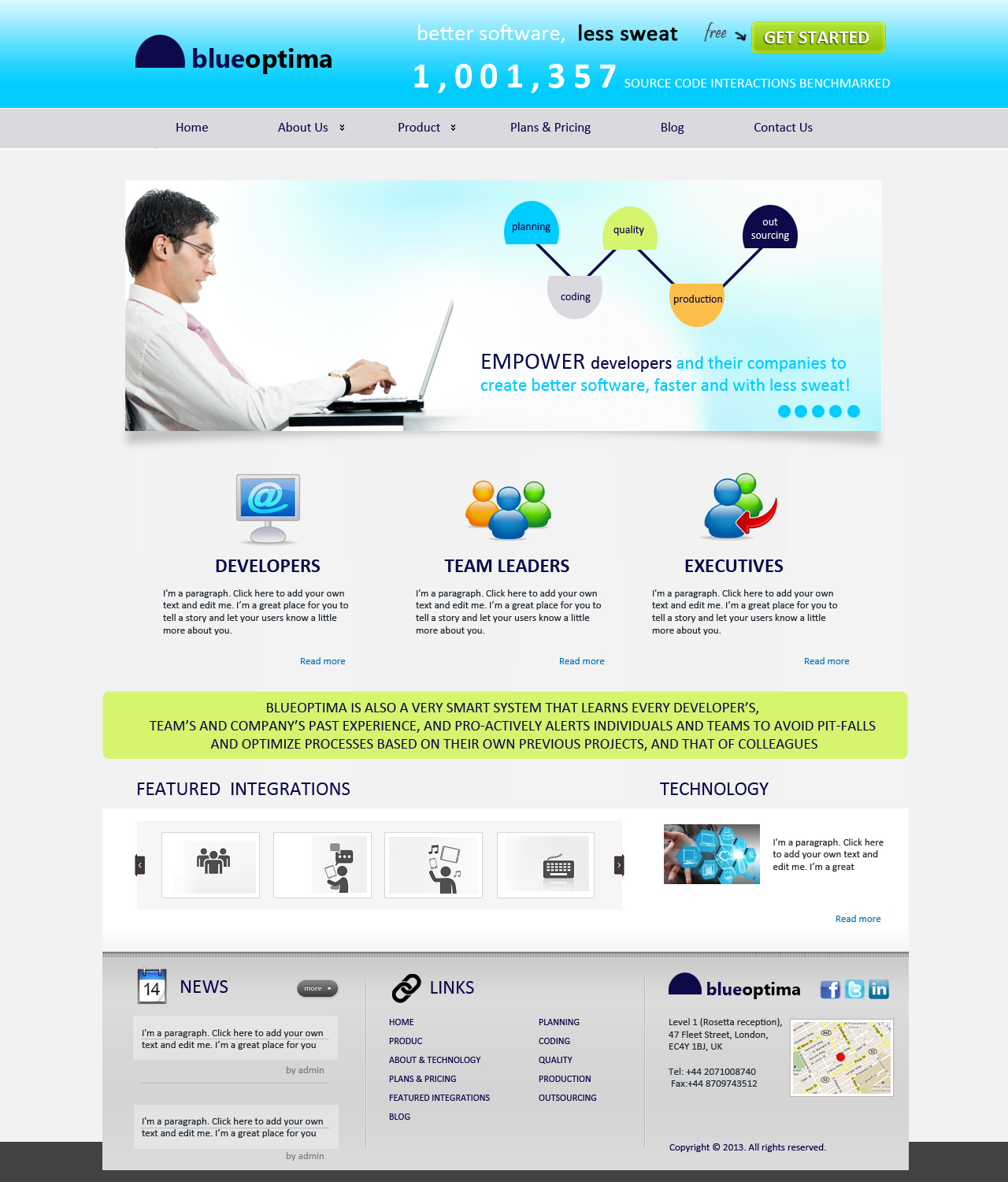 Masculine serious software web design for a company by for Masculine web design