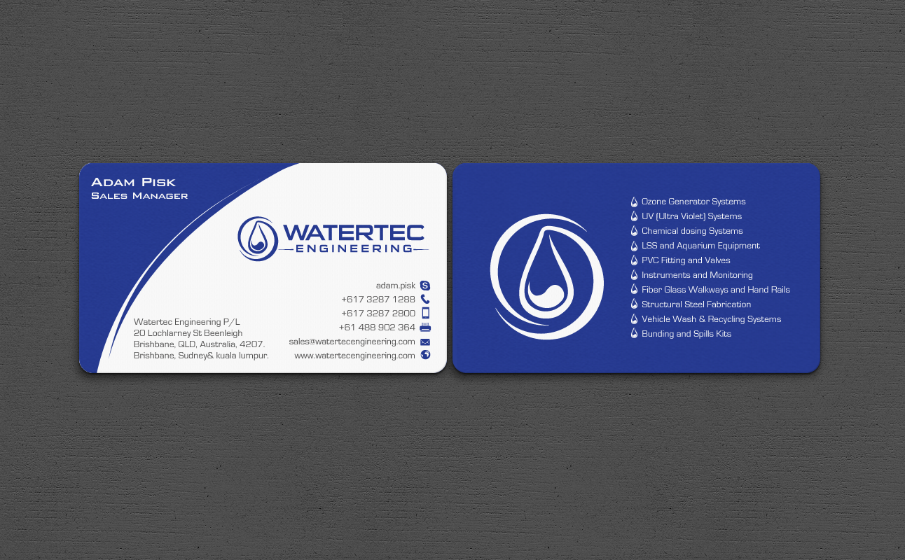 Modern professional mechanical engineering business card design business card design by chandrayaaneative for this project design 6977394 reheart Gallery