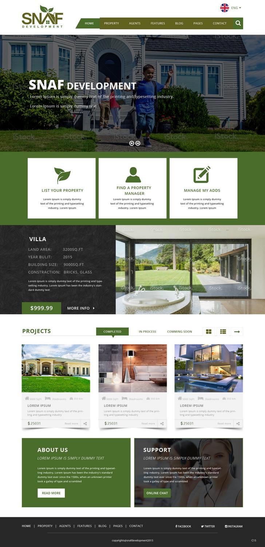 Elegant, Modern, Real Estate Development Web Design for a