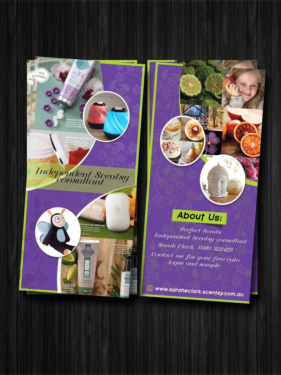 serious elegant party planning flyer design for scentsy by esolz