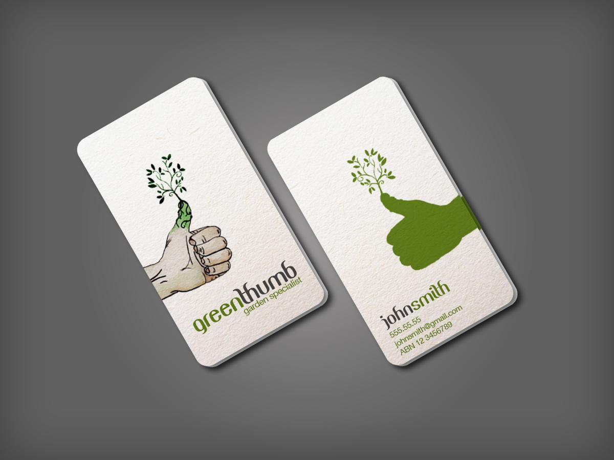 Modern bold business card design design for todd whiter for Garden maintenance business