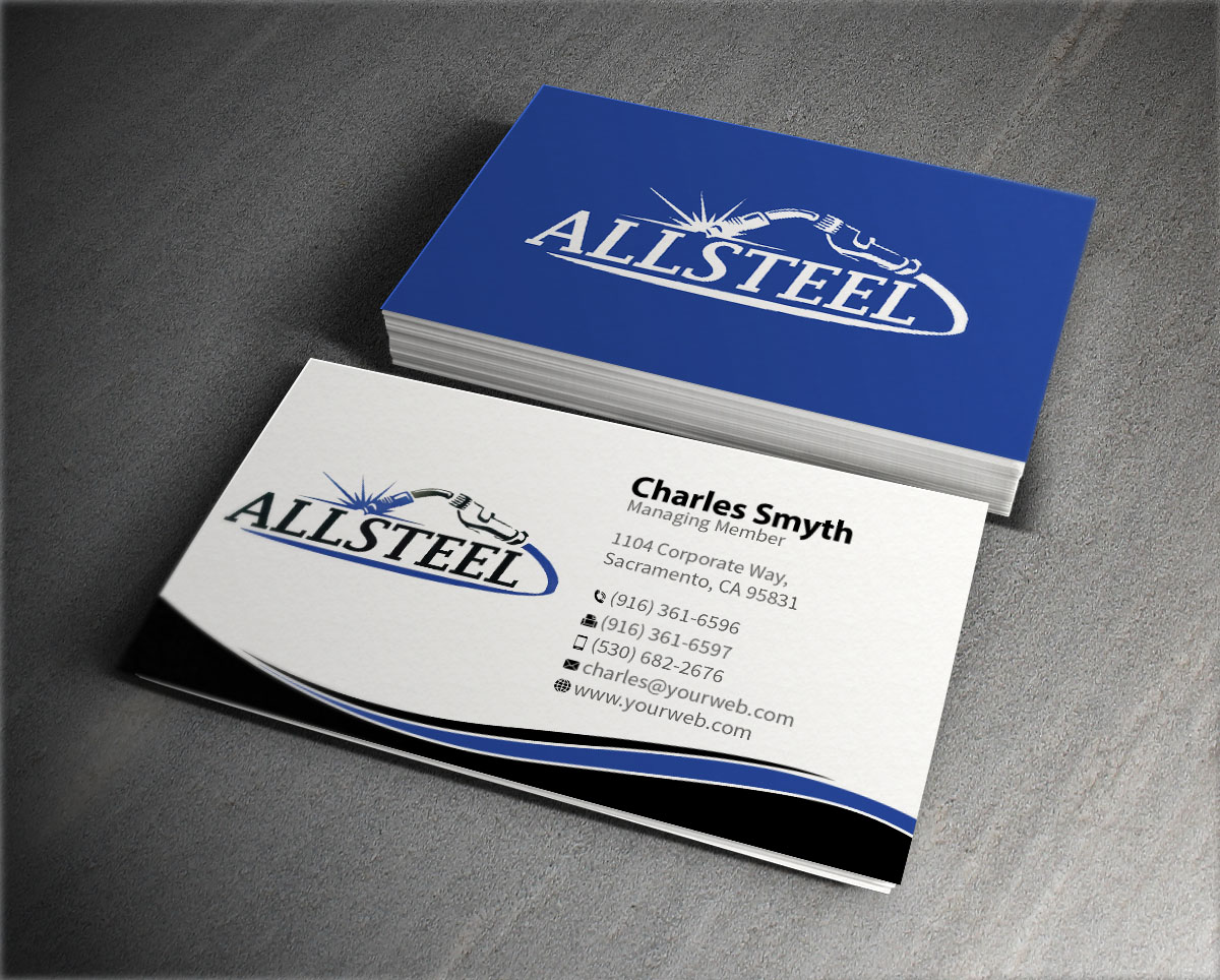 business business card design for allsteel welding and repair in united states design 7045289 - Welding Business Cards