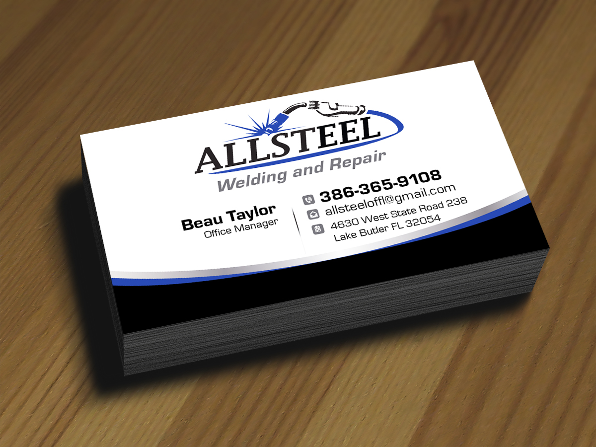 Business Business Card Design for Allsteel Welding and Repair by JLG ...
