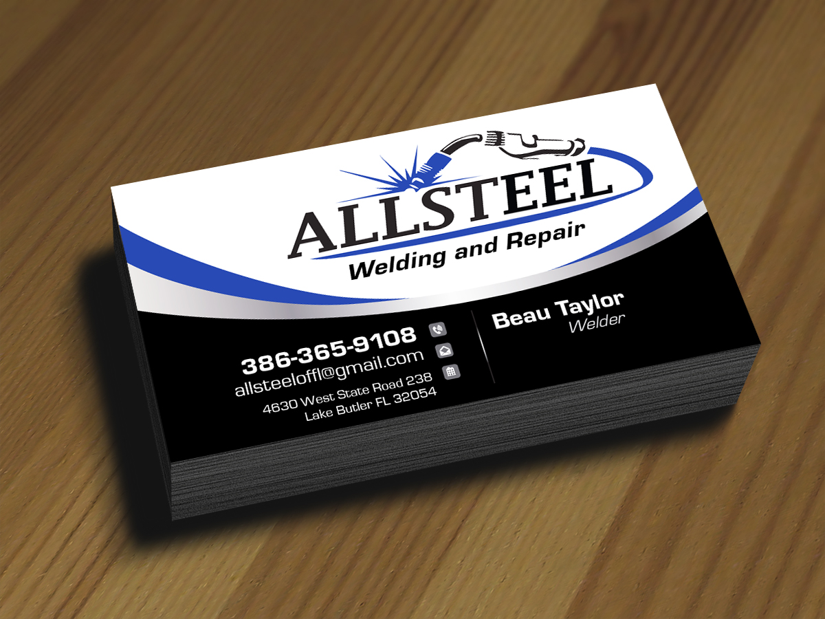 69 business card designs business business card design project for business card design by jlg studios for allsteel welding and repair design 7047114 colourmoves