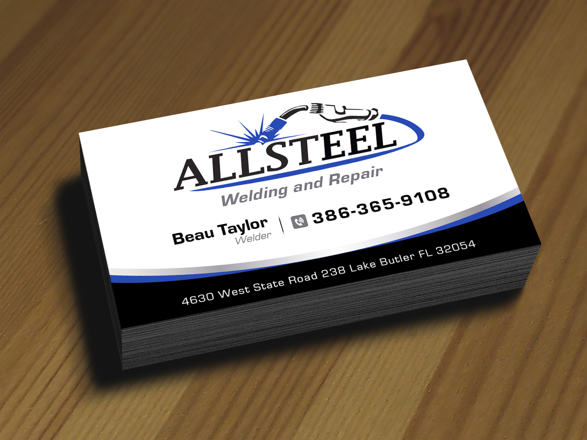business business card design for allsteel welding and repair in united states design 7055921 - Welding Business Cards