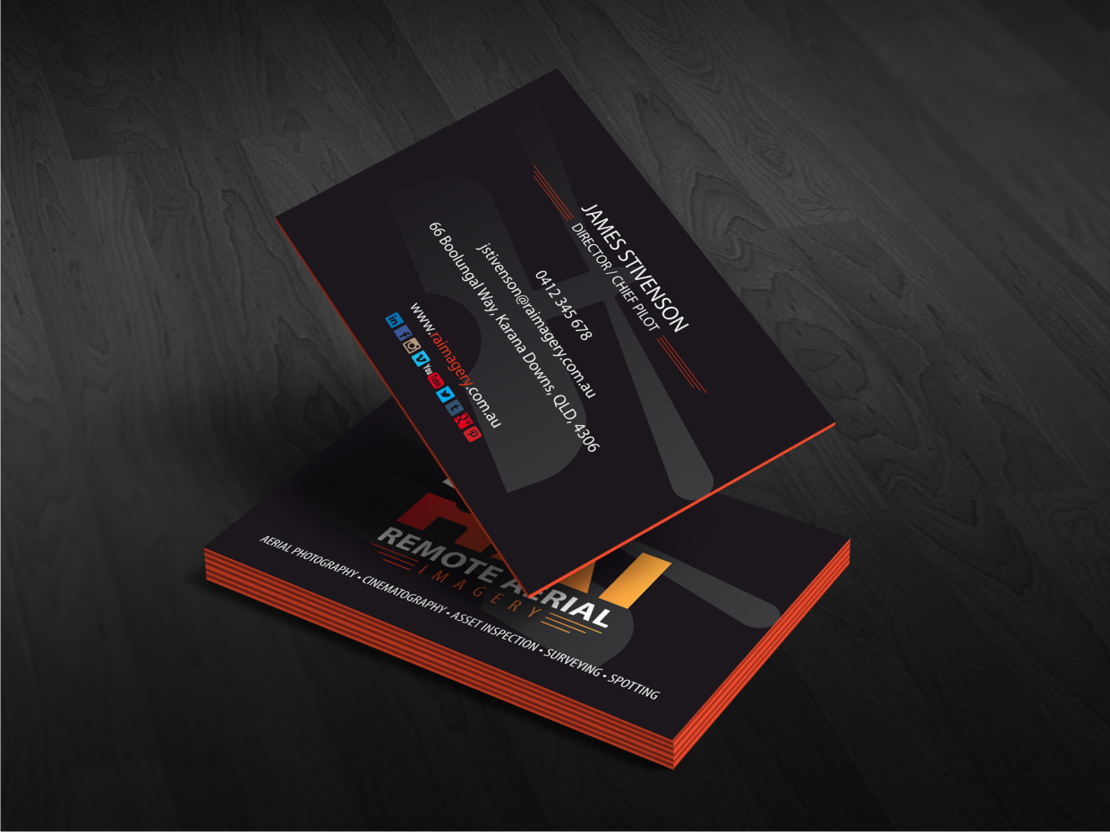 Bold masculine business card design for remote aerial imagery by business card design by atvento graphics for design a business card for a aerial imagery company magicingreecefo Image collections