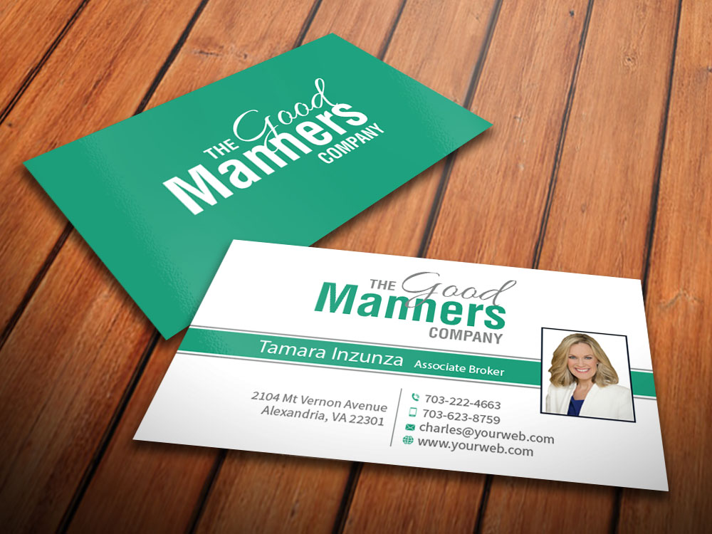 Business Card Design By Mediaproductionart For Manners Etiquette 7017780