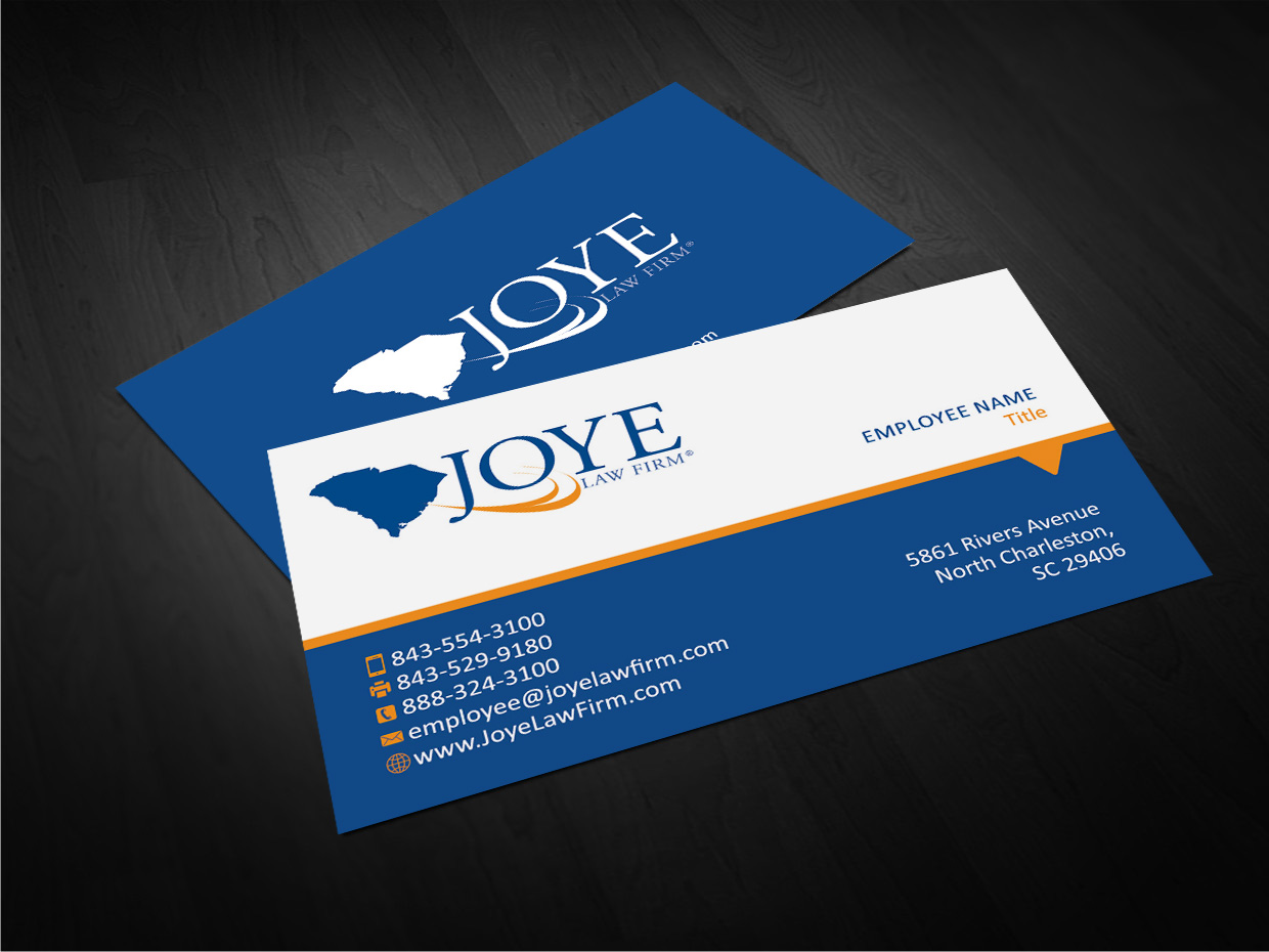 Bold, Modern Business Card Design for Joye Law Firm by GTools ...