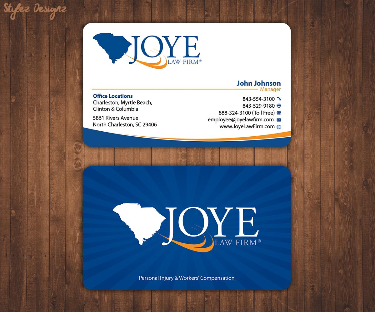 Bold, Modern Business Card Design for Joye Law Firm by Stylez ...