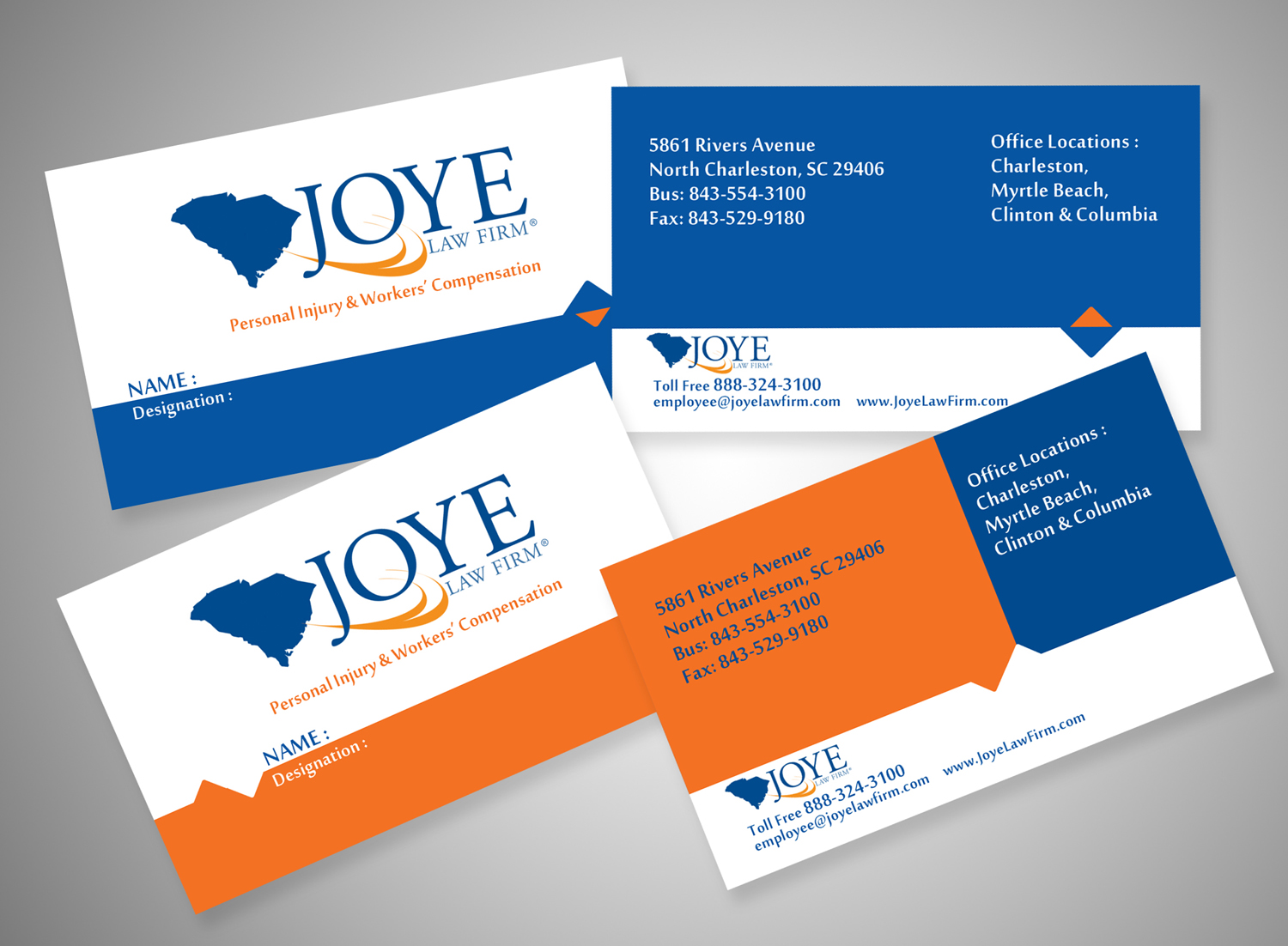 Bold, Modern Business Card Design for Joye Law Firm by V G ...