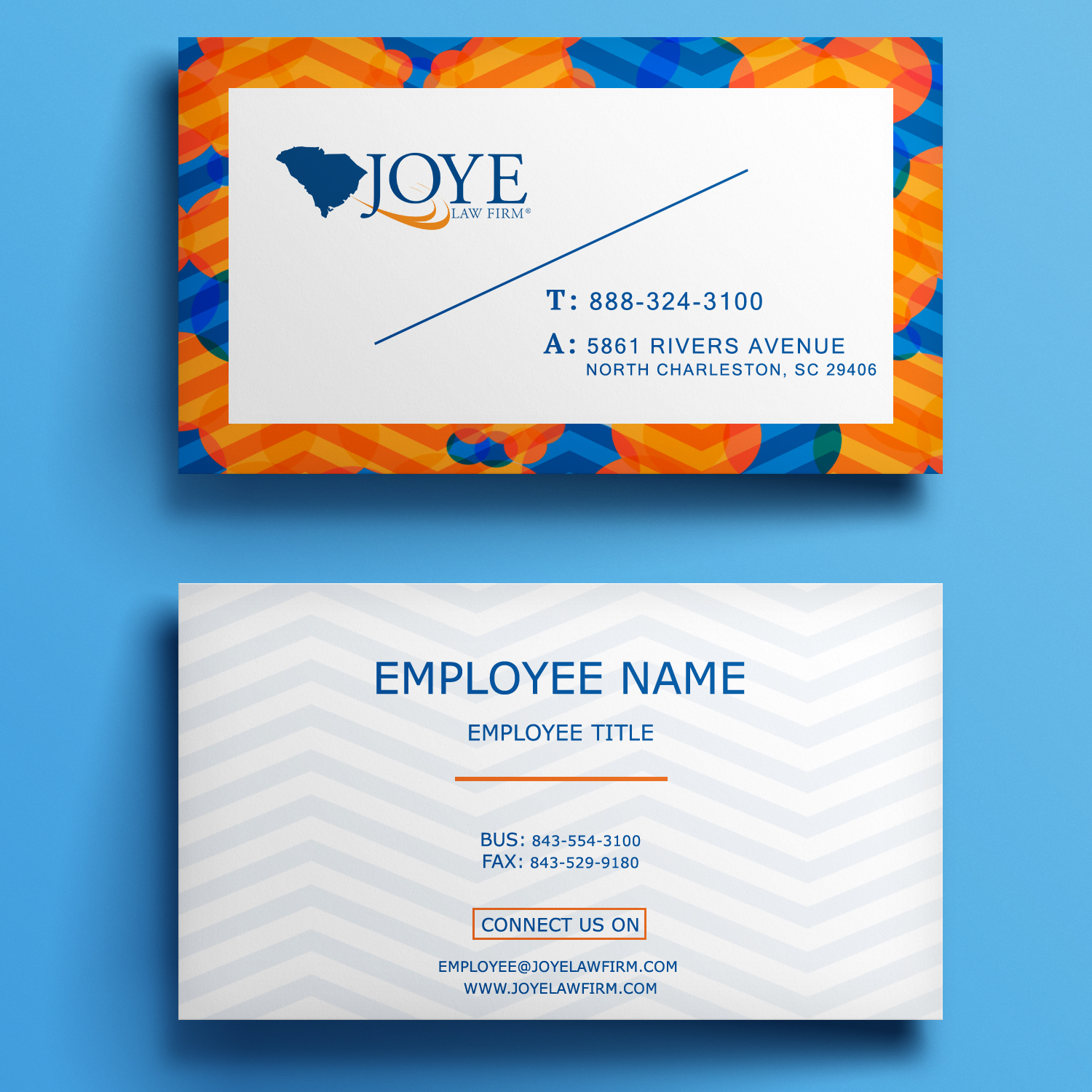 Bold Modern Business Card Design for Joye Law Firm by Mariami