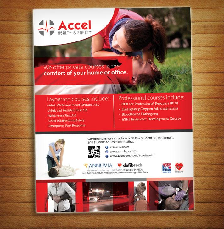 Upmarket Serious Flyer Design For Accel Health Amp Safety