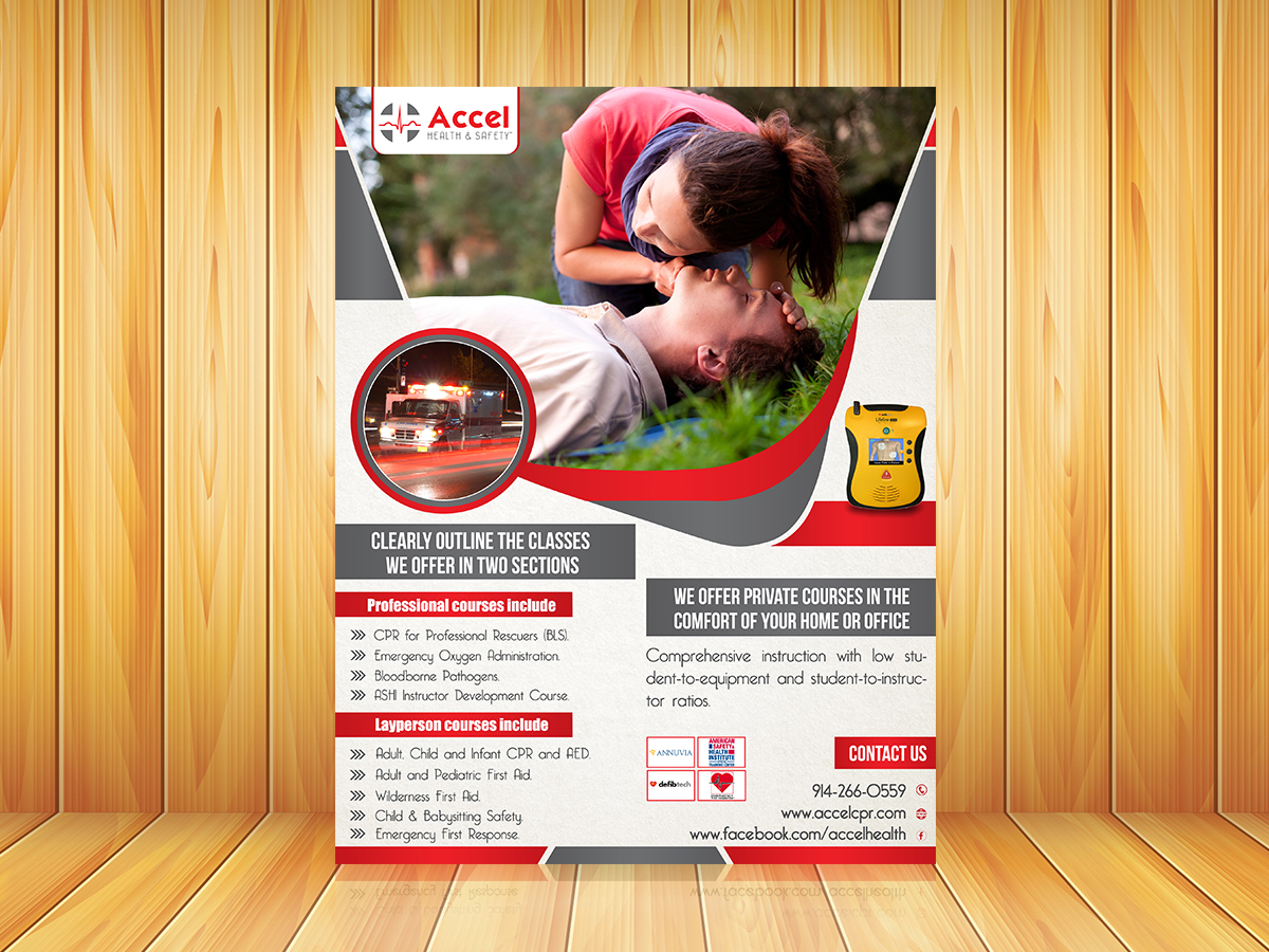 Upmarket, Serious Flyer Design for Accel Health & Safety by SD Web ...
