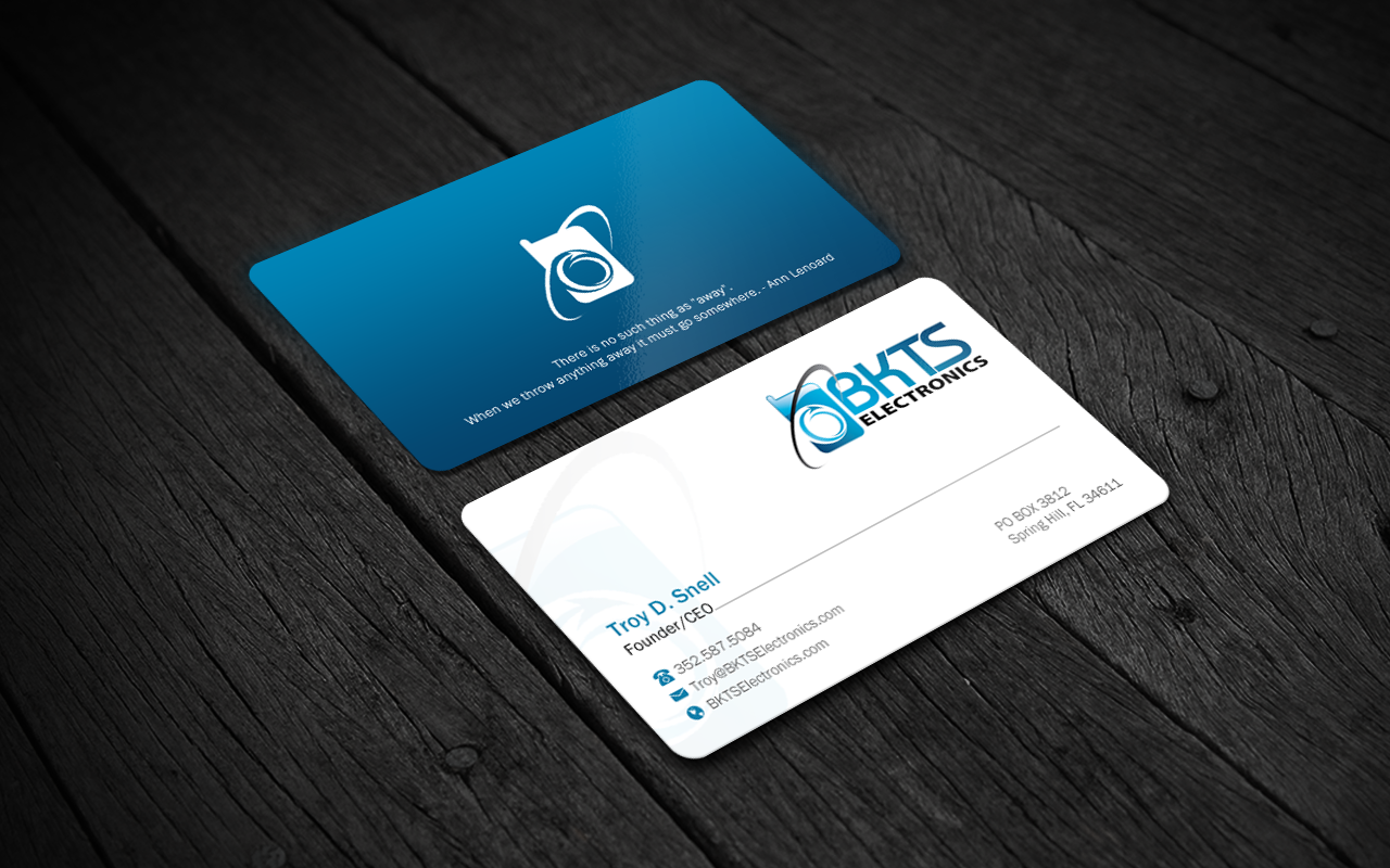 Bold serious business card design for bkts electronics by brand aid bold serious business card design for company in united states design 7027561 colourmoves
