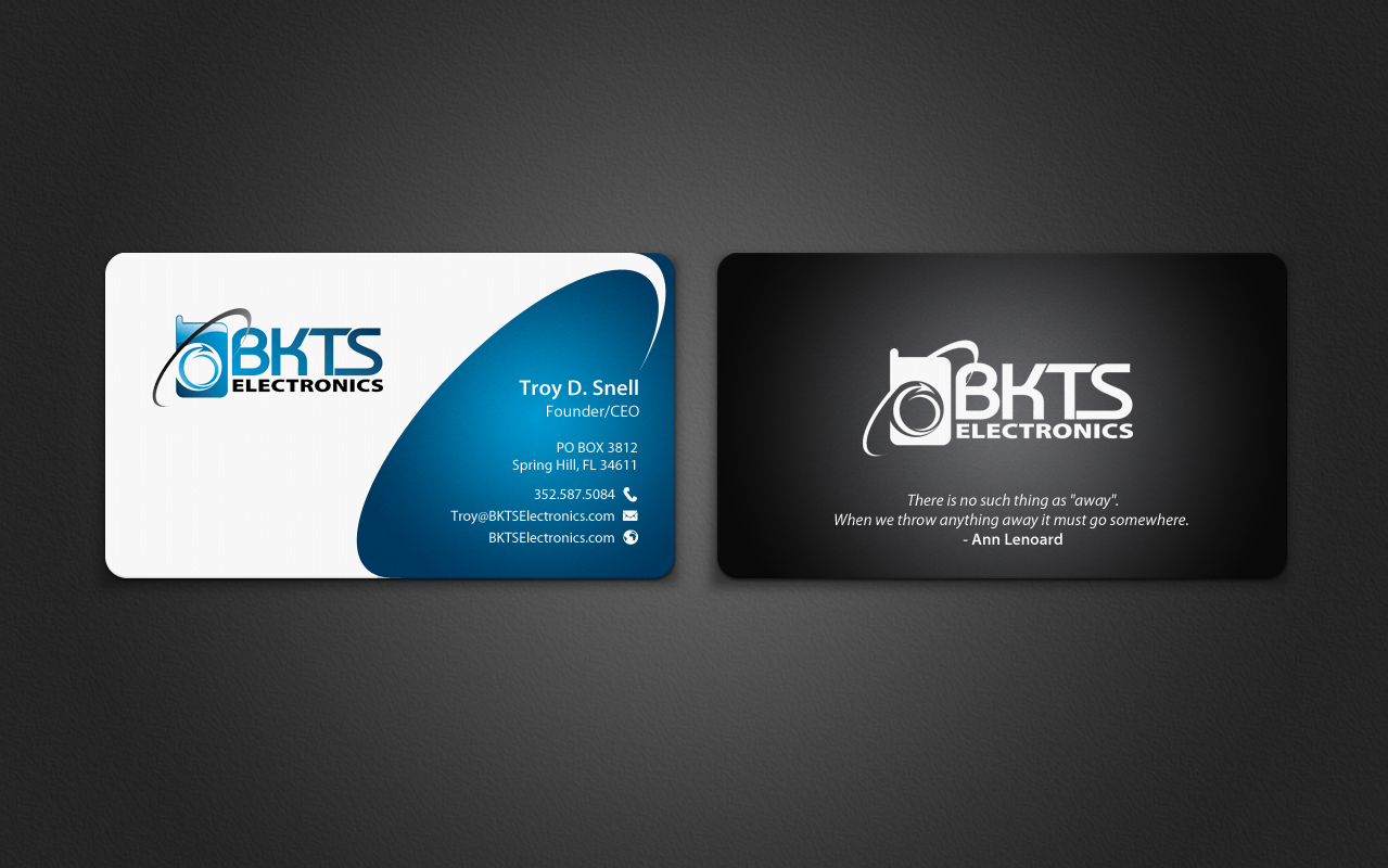 Bold, Serious, Information Technology Business Card Design for BKTS ...