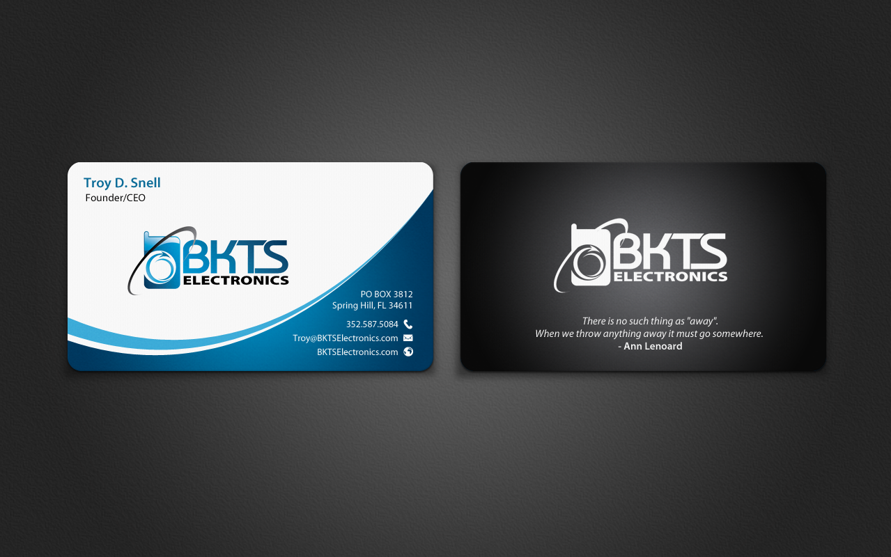 Bold serious information technology business card design for bkts bold serious information technology business card design for bkts electronics in united states design 7027452 colourmoves