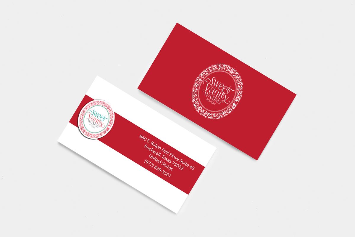 Elegant playful beauty salon business card design for sweet vanity business card design by hamiz imran for sweet vanity waxing boutique design 7059183 reheart Images
