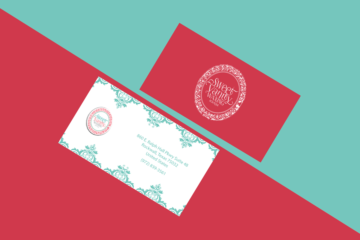 Elegant playful business card design for sweet vanity waxing business card design by hamiz imran for business card design design 7059184 reheart Choice Image