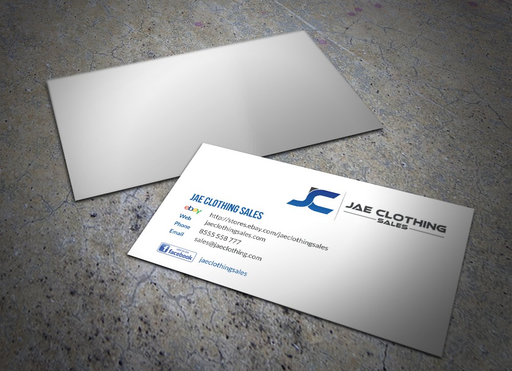 Bold modern online shopping business card design for jae sales llc bold modern online shopping business card design for jae sales llc in united states design 7055695 reheart Image collections