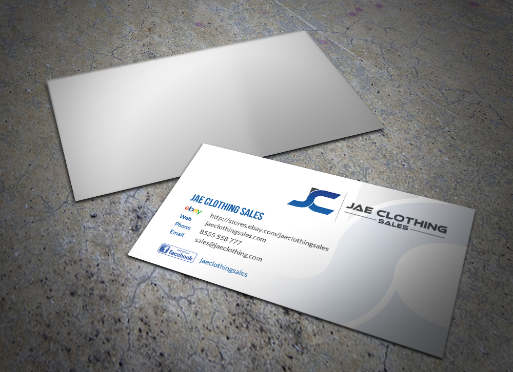 Bold modern online shopping business card design for jae sales llc bold modern online shopping business card design for jae sales llc in united states design 7055701 reheart Image collections