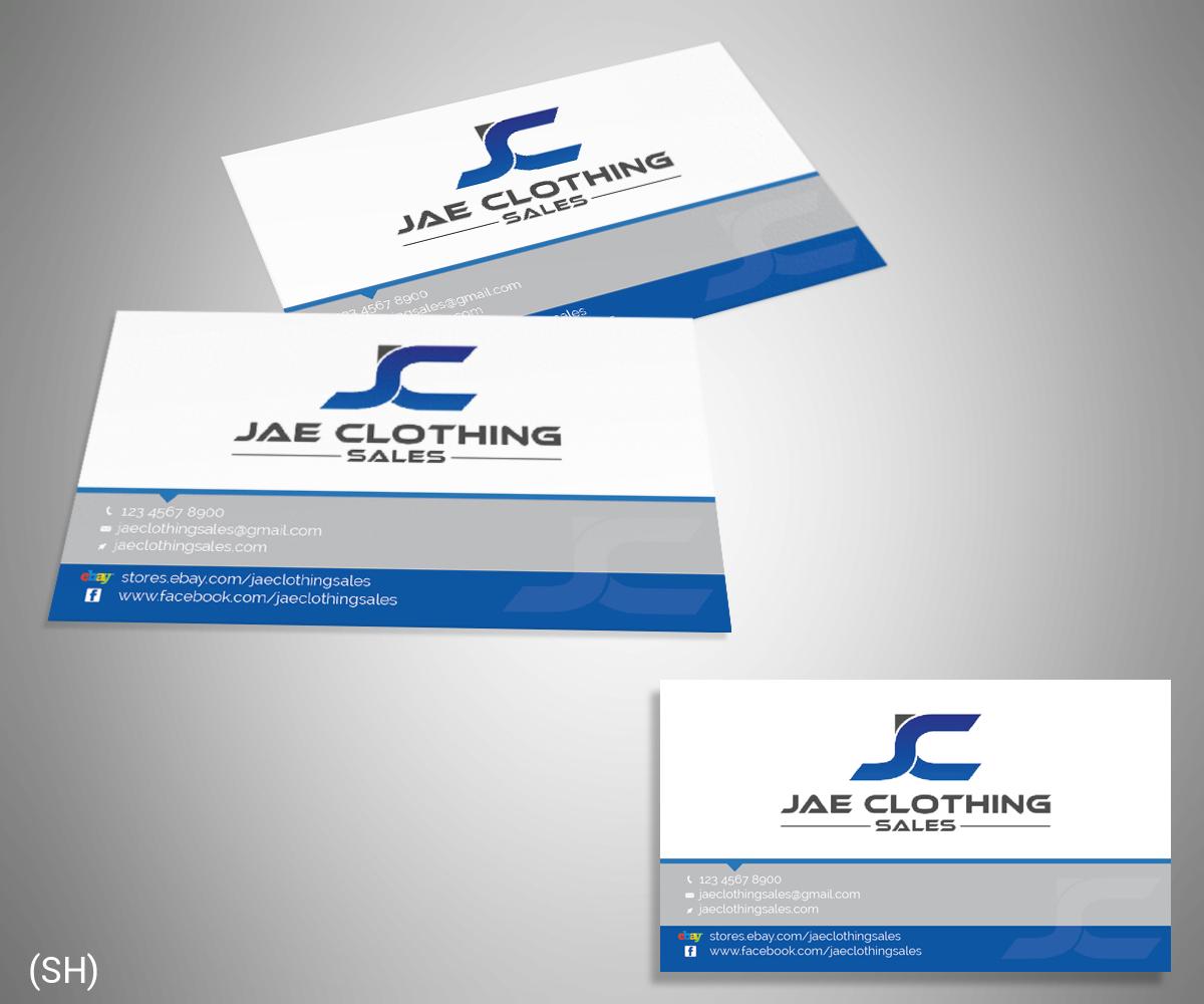 Bold modern online shopping business card design for jae sales llc business card design by esolbiz for jae sales llc design 7051862 reheart Gallery