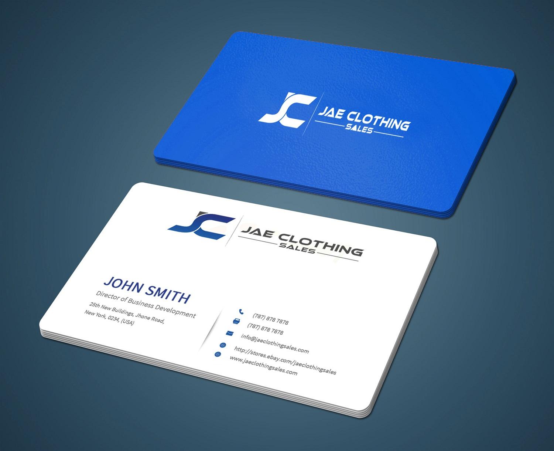 Bold modern business card design for jae sales llc by business card design by pleasantdesigns for business card for online clothing business design 7042545 magicingreecefo Gallery