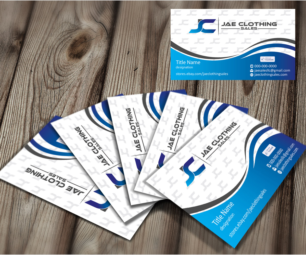 Bold modern business card design for jae sales llc by joliau business card design by joliau for business card for online clothing business design 7042725 magicingreecefo Gallery