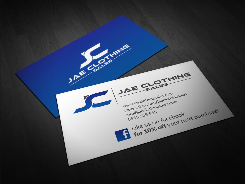 Bold modern business card design for jae sales llc by atvento business card design by atvento graphics for business card for online clothing business design magicingreecefo Gallery