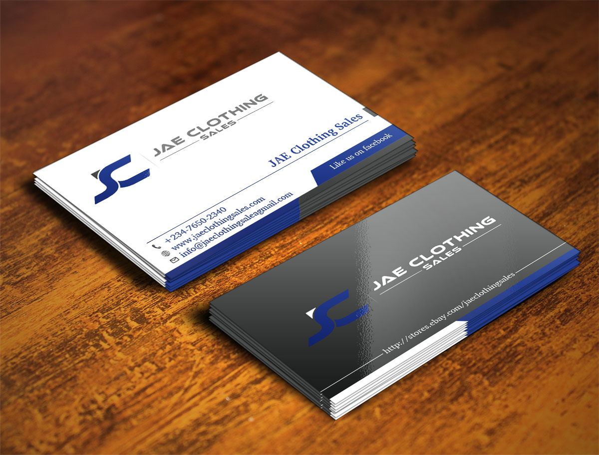 Bold modern online shopping business card design for jae sales llc bold modern online shopping business card design for jae sales llc in united states design 7047783 reheart Gallery