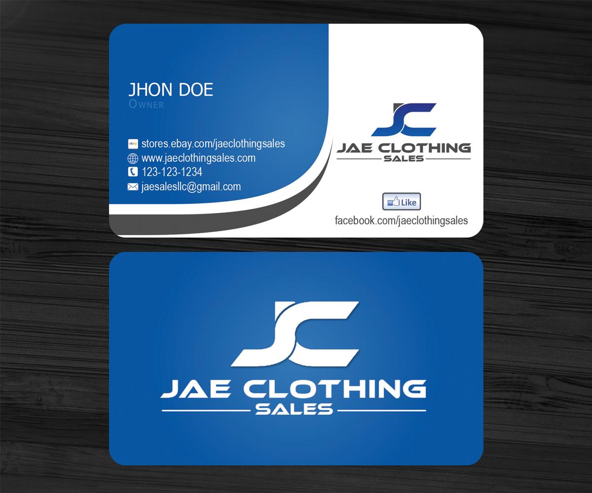 Bold modern business card design for jae sales llc by sanrell business card design by sanrell for business card for online clothing business magicingreecefo Gallery