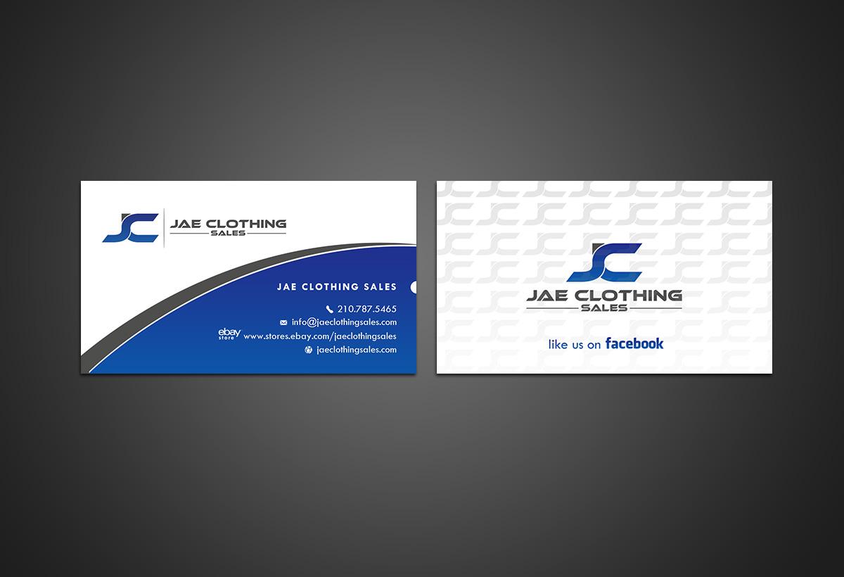 Bold modern online shopping business card design for jae sales llc business card design by younes for jae sales llc design 7043421 reheart Choice Image