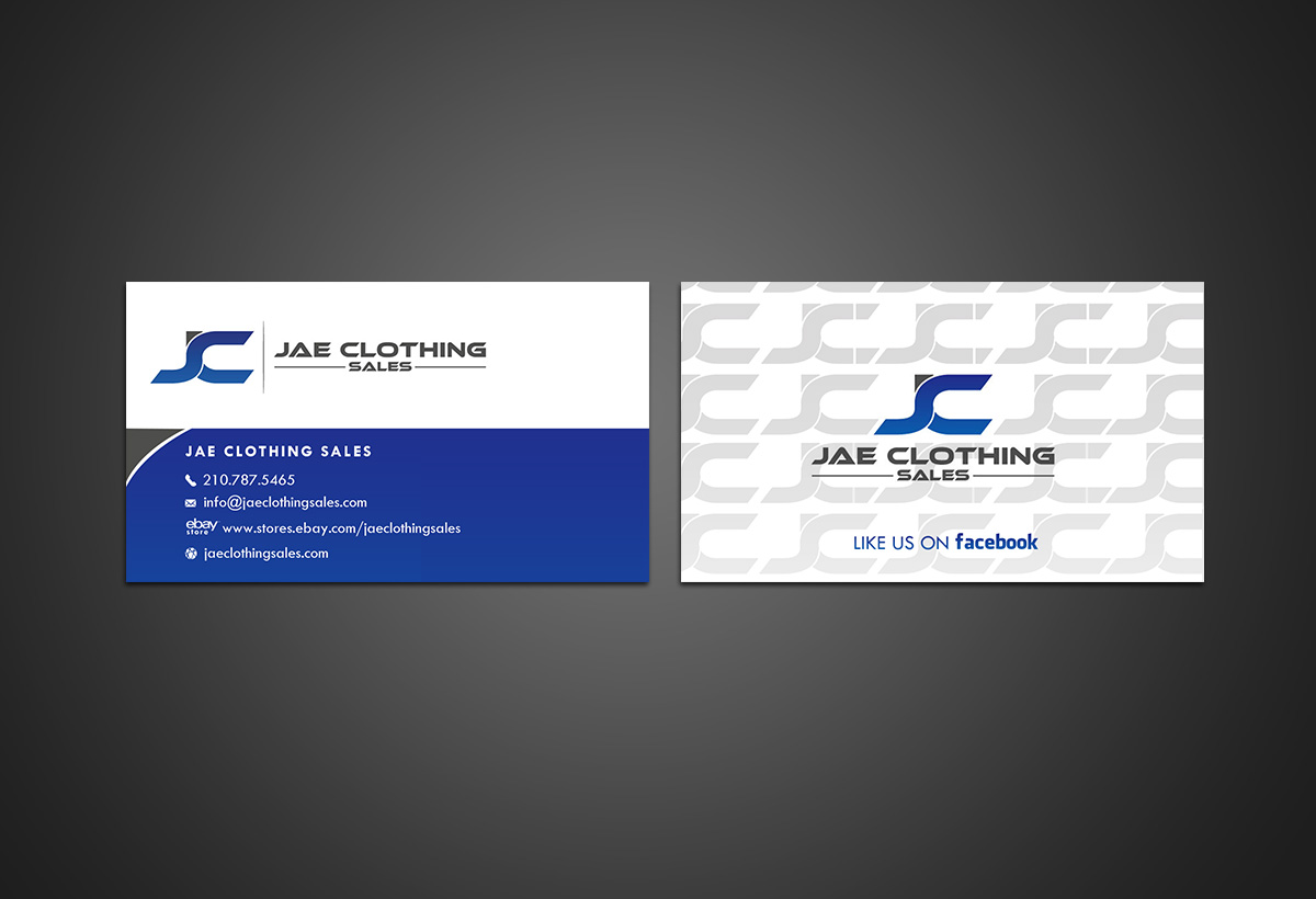 Bold modern online shopping business card design for jae sales llc bold modern online shopping business card design for jae sales llc in united states design 7055186 reheart Gallery