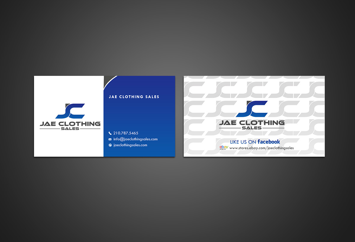 Bold modern online shopping business card design for jae sales llc bold modern online shopping business card design for jae sales llc in united states design 7055288 reheart Choice Image