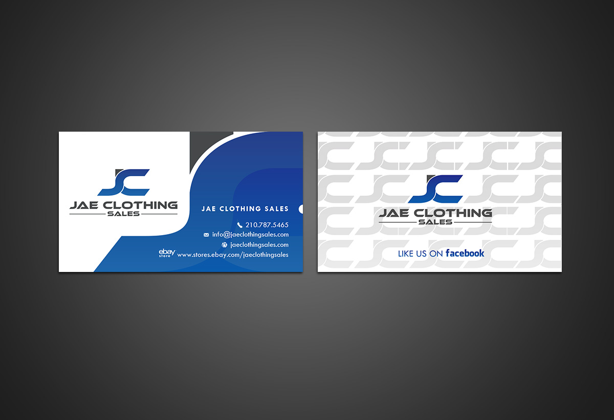 244 bold business card designs online shopping business card business card design by younes for jae sales llc design 7055377 reheart Choice Image