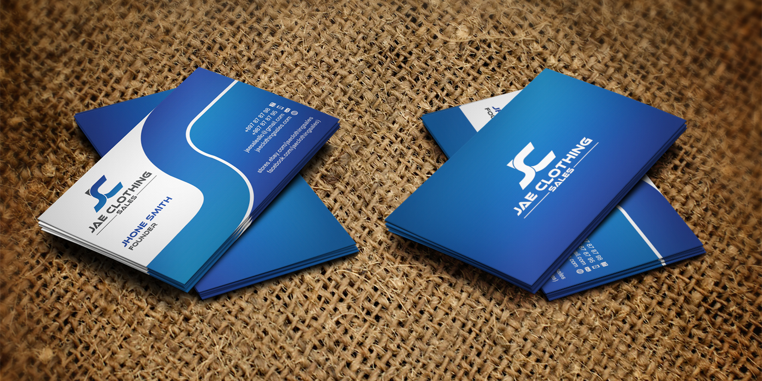 Bold, Modern Business Card Design for JAE Sales LLC by upwork ...