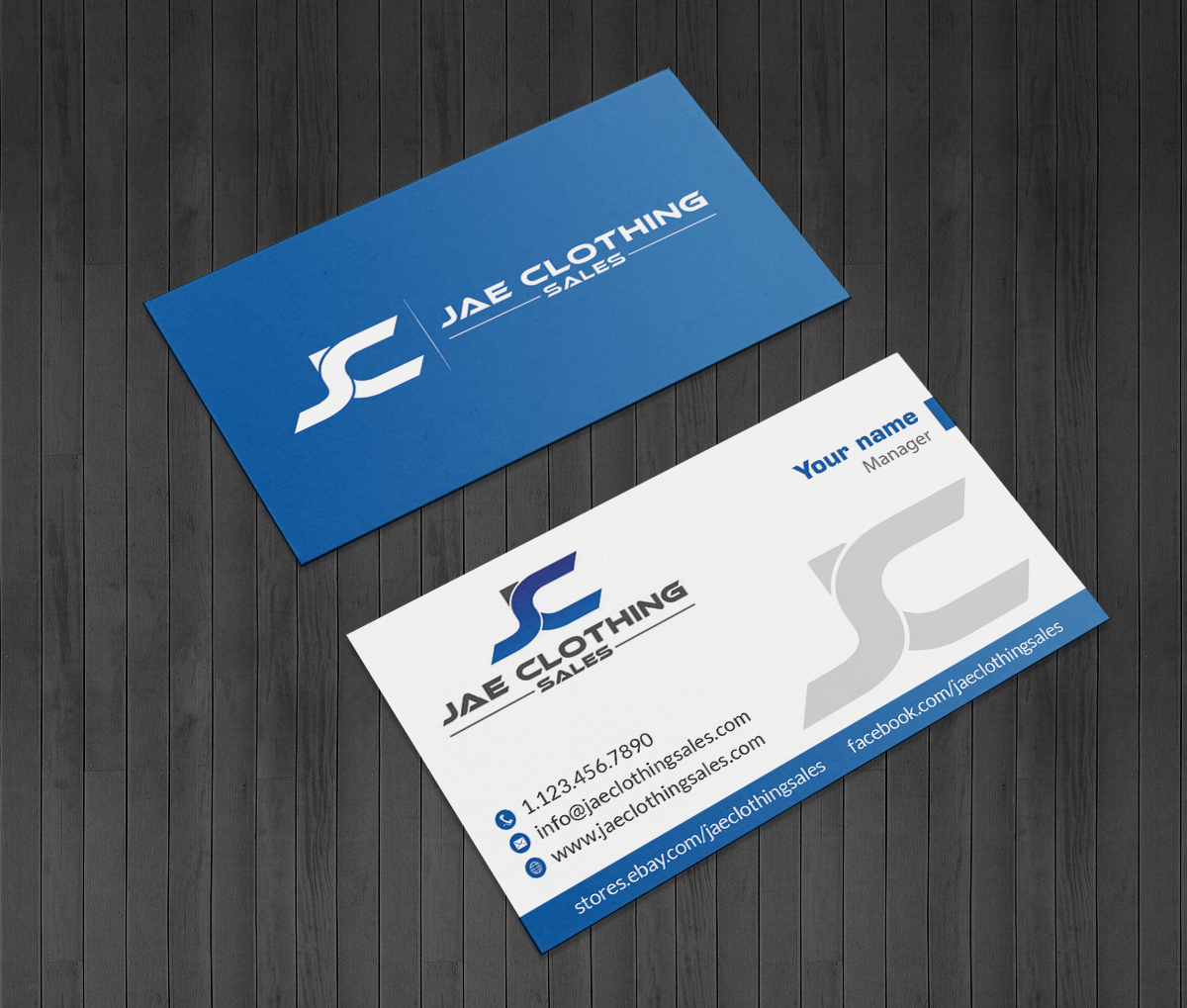 Bold modern online shopping business card design for jae sales llc bold modern online shopping business card design for jae sales llc in united states design 7045481 reheart Gallery