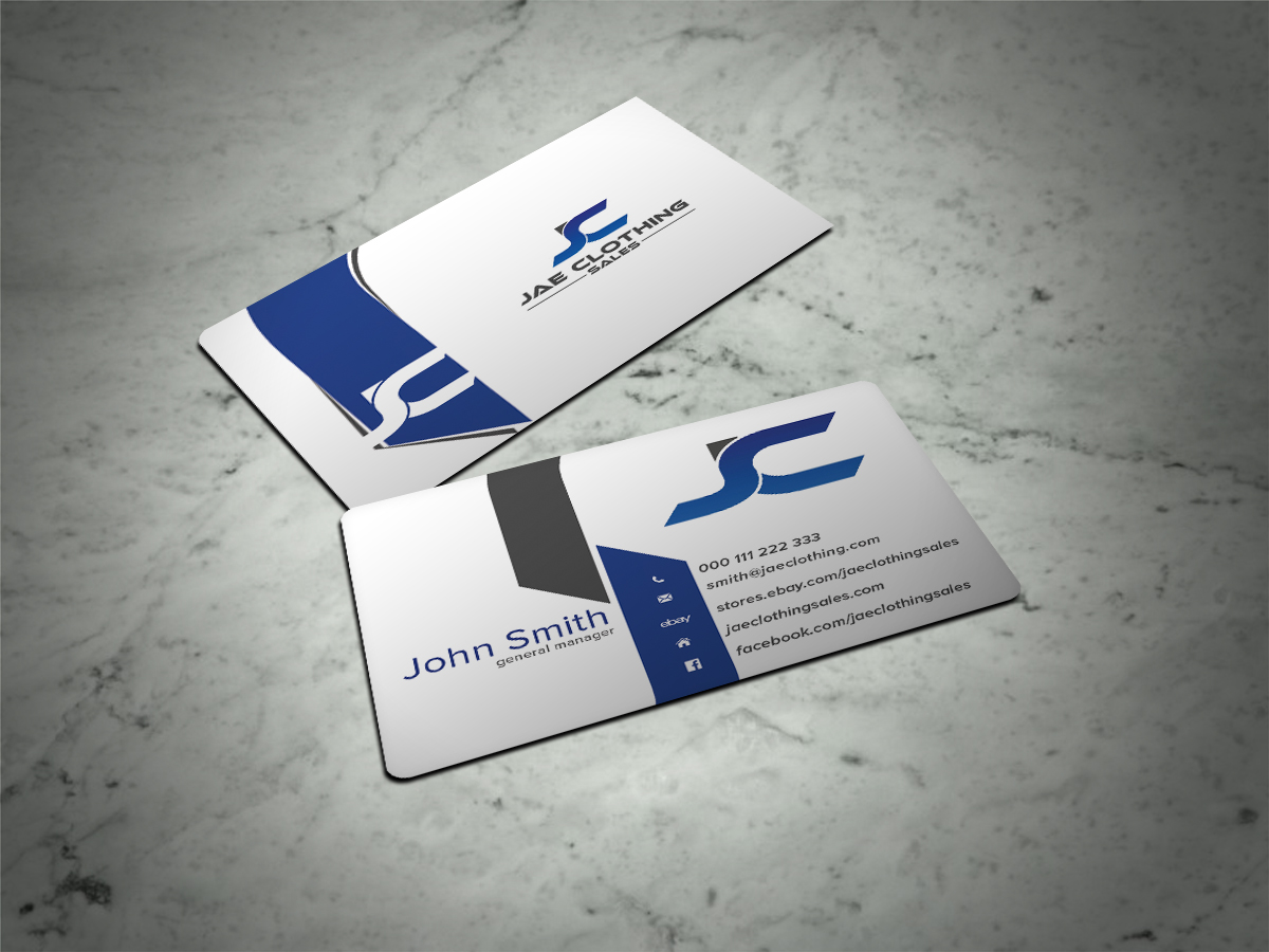 Bold modern online shopping business card design for jae sales llc bold modern online shopping business card design for jae sales llc in united states design 7063641 reheart Gallery