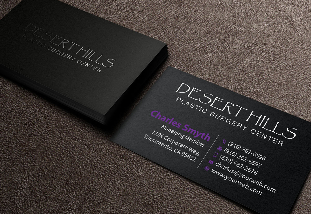 Modern serious plastic surgery business card design for a company business card design by mediaproductionart for this project design 7045051 reheart Gallery