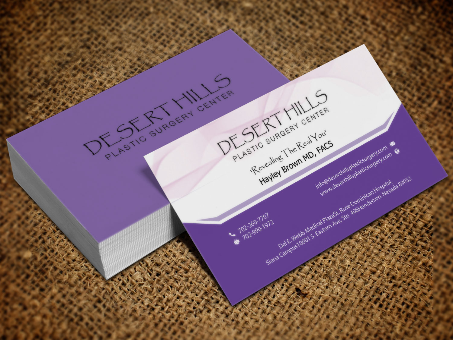 Modern, Serious, Plastic Surgery Business Card Design for a Company ...