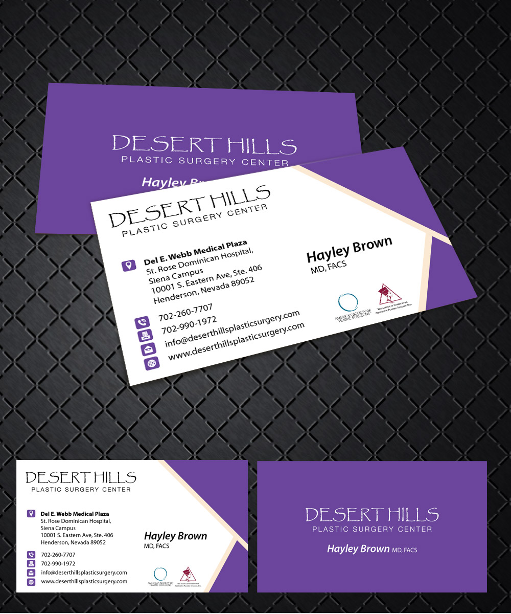 Modern serious plastic surgery business card design for a company business card design by joliau for this project design 7038732 reheart Gallery