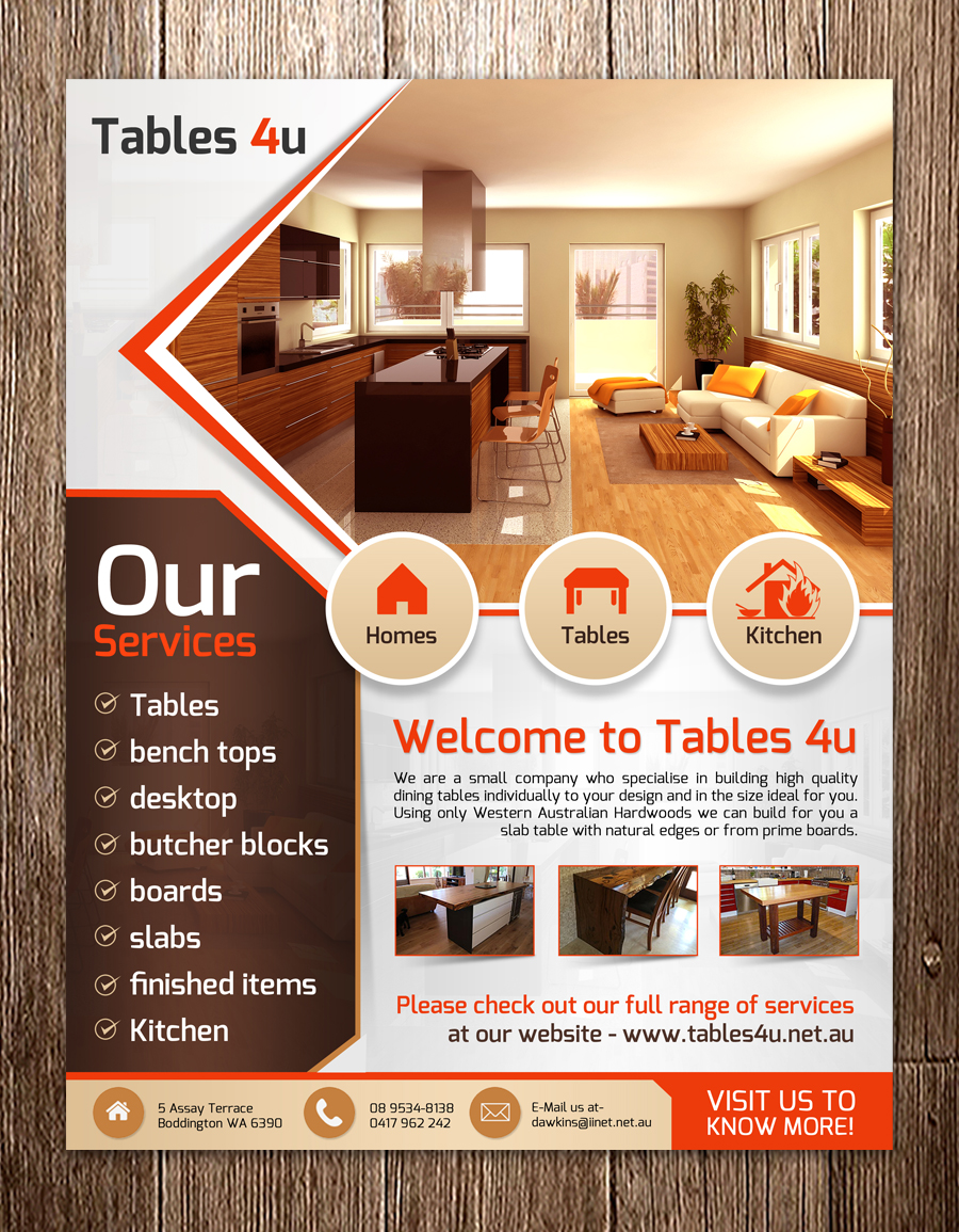 Furniture Flyer Design For A Company By Debdesign