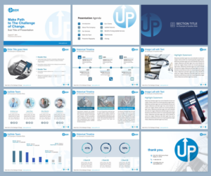 playful modern business consultant powerpoint design for a company