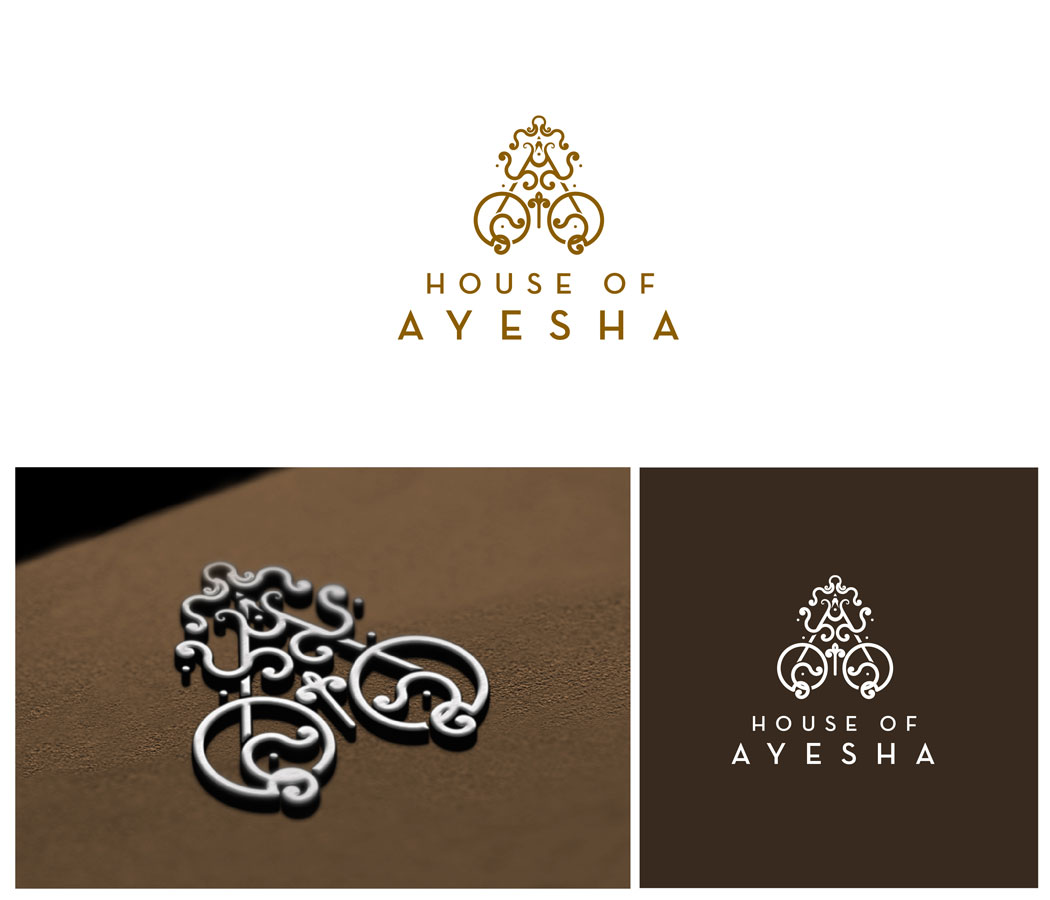 Elegante Serio Logo Design For House Of Ayesha By Sbelogd