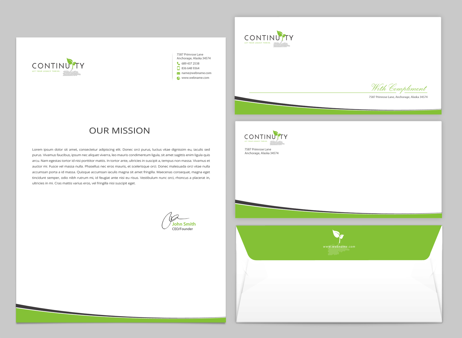 Upmarket Serious Business Stationery